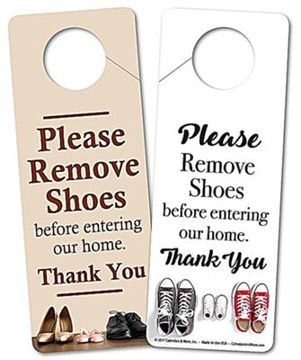 Shoe Covers (Door Hanger Sign)