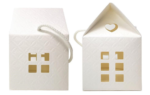 IVORY PAPER HOUSE GIFT BOX - MEDIUM