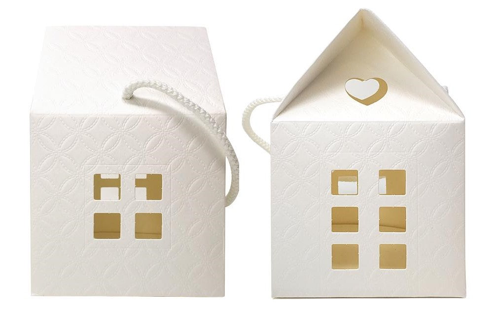 IVORY PAPER HOUSE GIFT BOX - LARGE