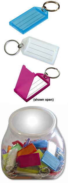 Key Tag Ring With Paper Insert