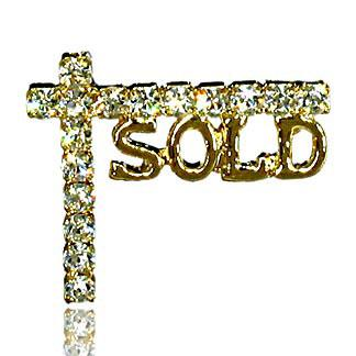 "GOLDTONE ""SOLD"" POST PIN"