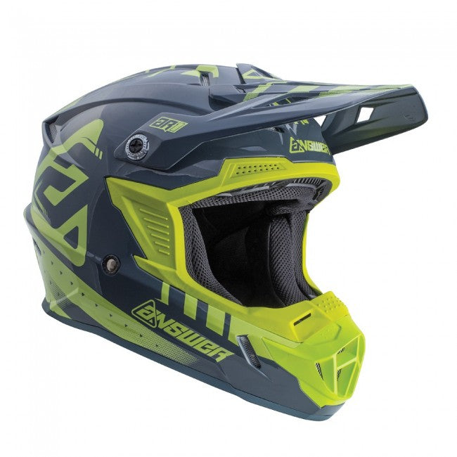 ANSWER HELMET MX AR1 YOUTH KID 2018 ACID/GREY