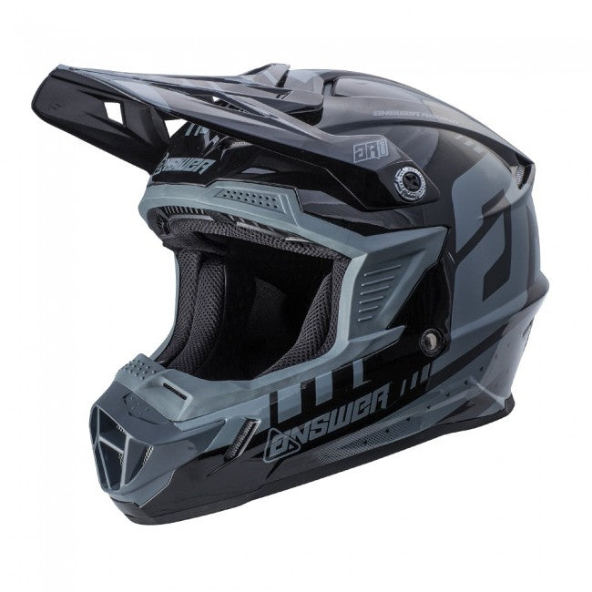 ANSWER HELMET MX AR1 YOUTH KID 2018 GREY/BLACK
