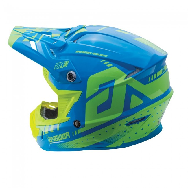 ANSWER HELMET MX AR1 YOUTH KID 2018 YELLOW/BLUE
