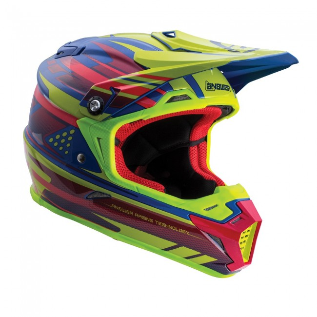 ANSWER HELMET AR5 2018 ACID/BLUE (WITH MIPS)
