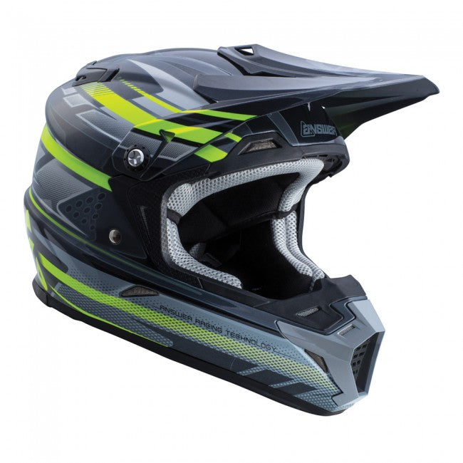 ANSWER HELMET AR5 2018 BLACK/GREY/HI-VIZ (WITH MIPS)