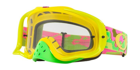 2018 OAKLEY CROWBAR Thermo Camo Pink Yellow Green. Clear Lens