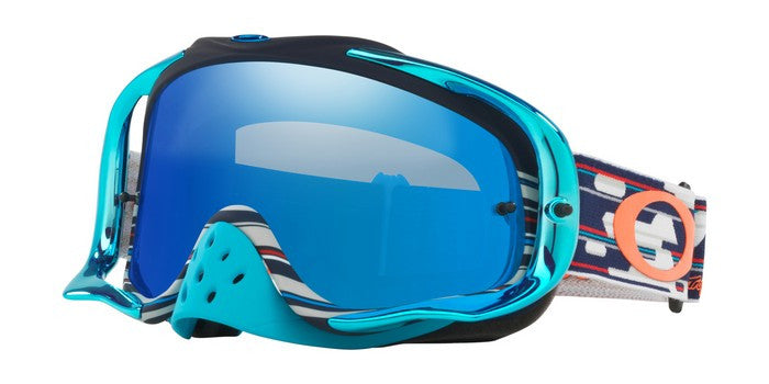 2018 OAKLEY CROWBAR goggle Troy Lee Designs Code Red White Blue. Black Ice Iri Lens