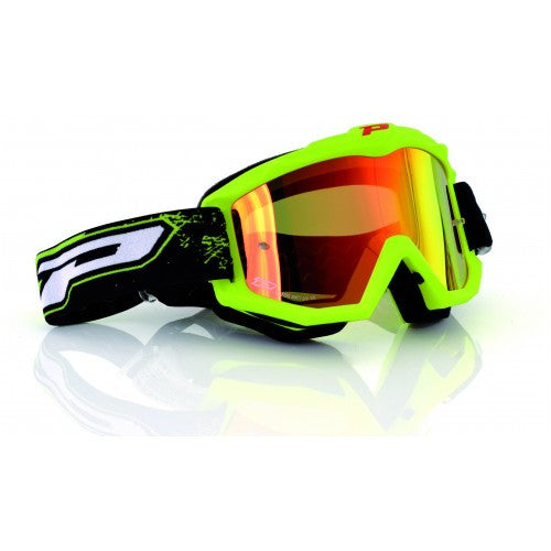 Pro Grip Race Line 3204 Goggles Flo Yellow Multilayered Lens