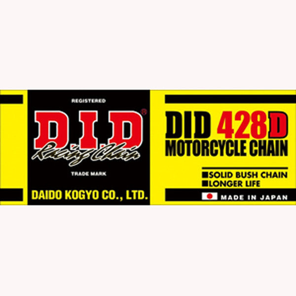 DID 428 Black Motocross Chain - 134 Links - 80cc/105cc