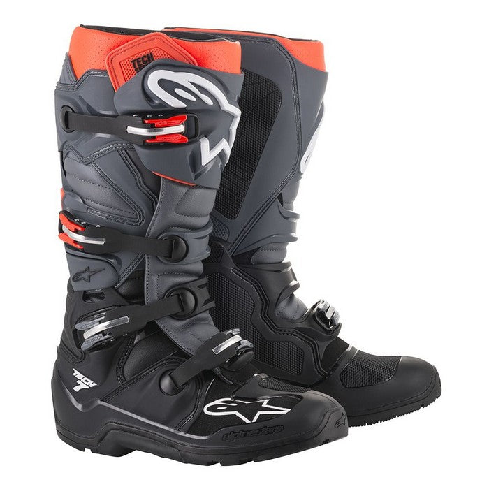 Kit Boot Alpinestars Tech 7Enduro - - Black Grey Red Fluo UK 13