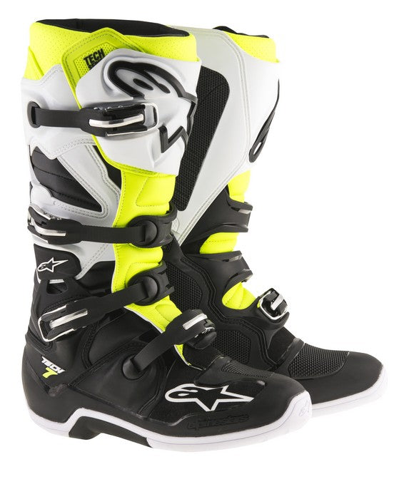 Kit Boot Alpinestars Tech 7Enduro - - Black White Flo Yellow UK 13