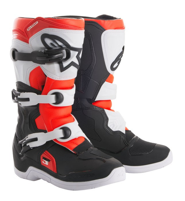 Kit Boot Alpinestars Tech 3SYouth- - Black White Red Flo UK 05