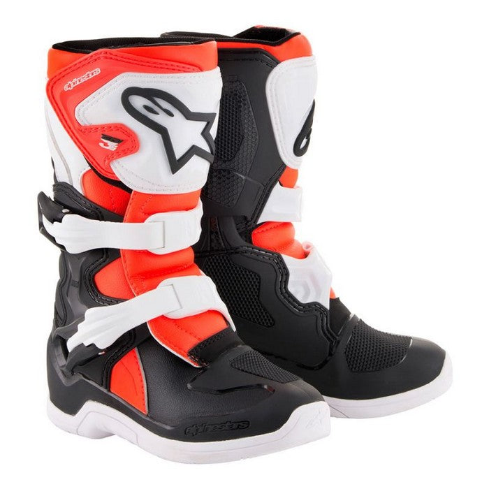 Kit Boot Alpinestars Tech 3SYouth - - Black White Red Flo UK 12