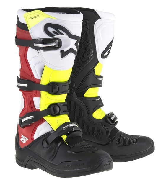 Kit Boot Alpinestars Tech 5 - 2018- Black White Neon UK 6
