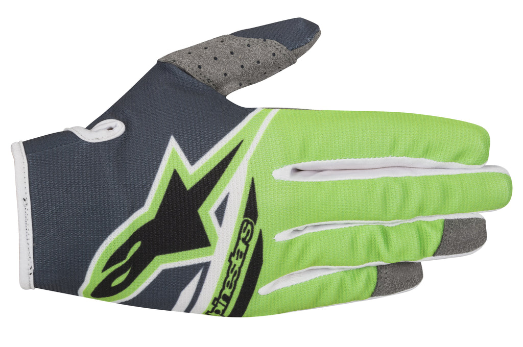 2018 Alpinestars Youth Radar Flight Gloves - Anthracite Green