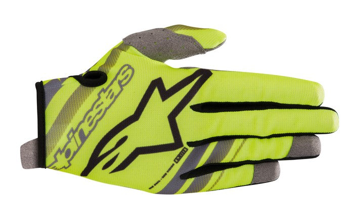 Kit Glove Alpinestars Radar Youth- 2019- Yellow Fluo Black XS - Extra Small