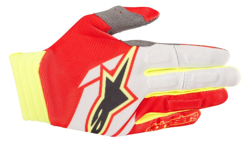 Kit Glove Alpinestars - 2018- Red Yellow Flo White