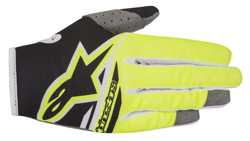 2018 Alpinestars Radar Flight Gloves Black Yellow Flo