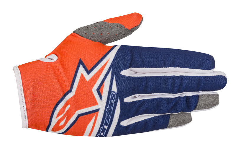 2018 Alpinestars Radar Flight Gloves Orange Blue White