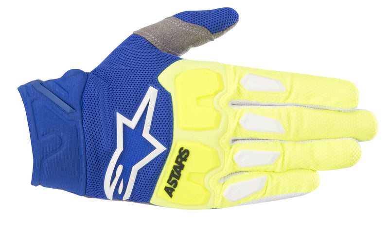 2018 Alpinestars Racefend Gloves Yellow Flo Blue