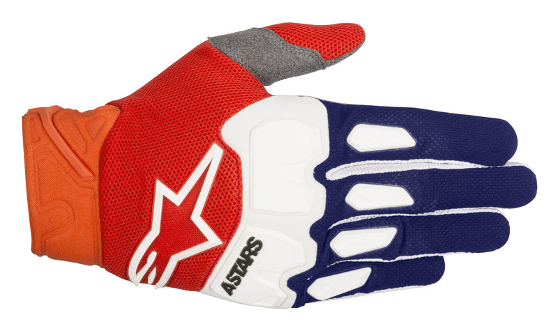 2018 Alpinestars Racefend Gloves Blue Orange White