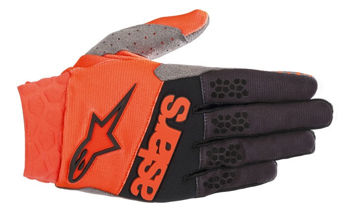 Kit Glove Alpinestars Racefend - 2019- Orange Fluo Black XXL - Extra Large