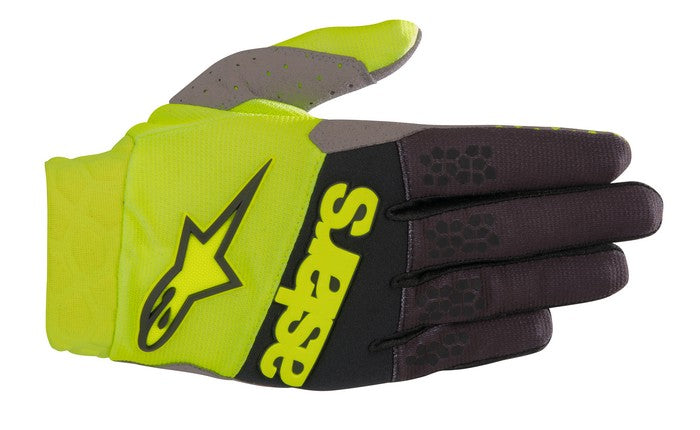 Kit Glove Alpinestars Racefend - 2019- Yellow Fluo Black XXL - Extra Large