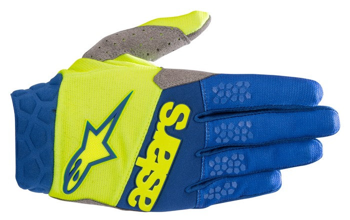 Kit Glove Alpinestars Racefend - 2019- Yellow Fluo Blue XXL - Extra Large