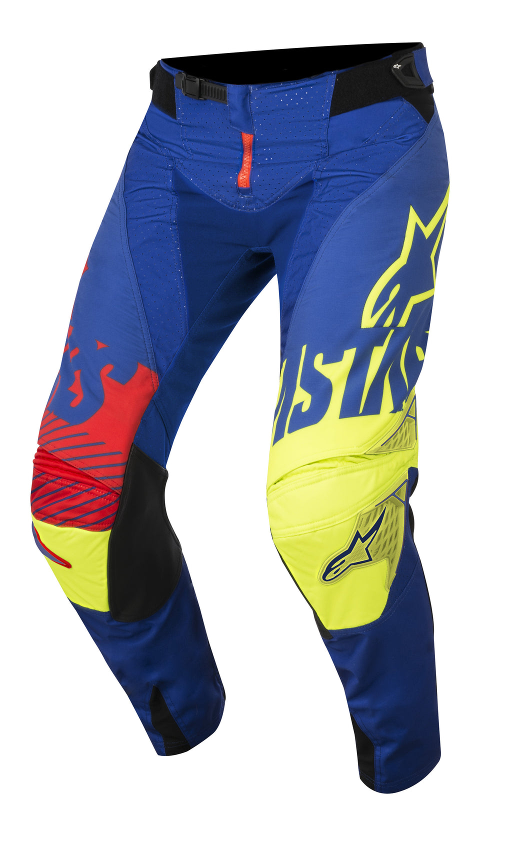 2018 Alpinestars Techstar Scream Pants Blue Yellow Red OCT17
