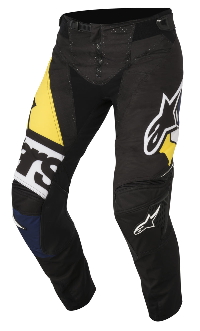 2018 Alpinestars Techstar Factory Pants Black Blue Yellow
