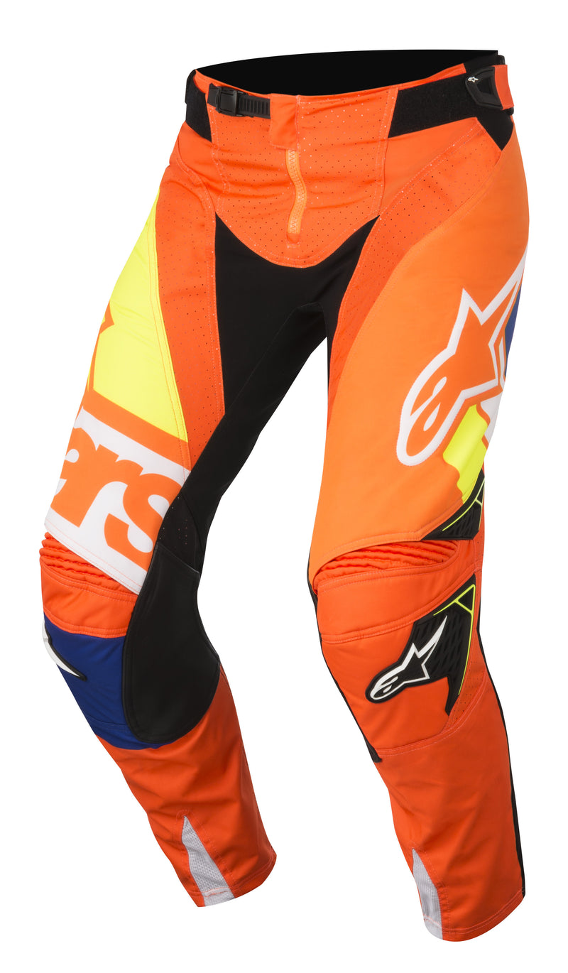 2018 Alpinestars Techstar Factory Pants Orange Blue White