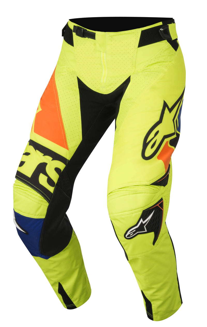 2018 Alpinestars Techstar Factory Pants Flo Blue Orange