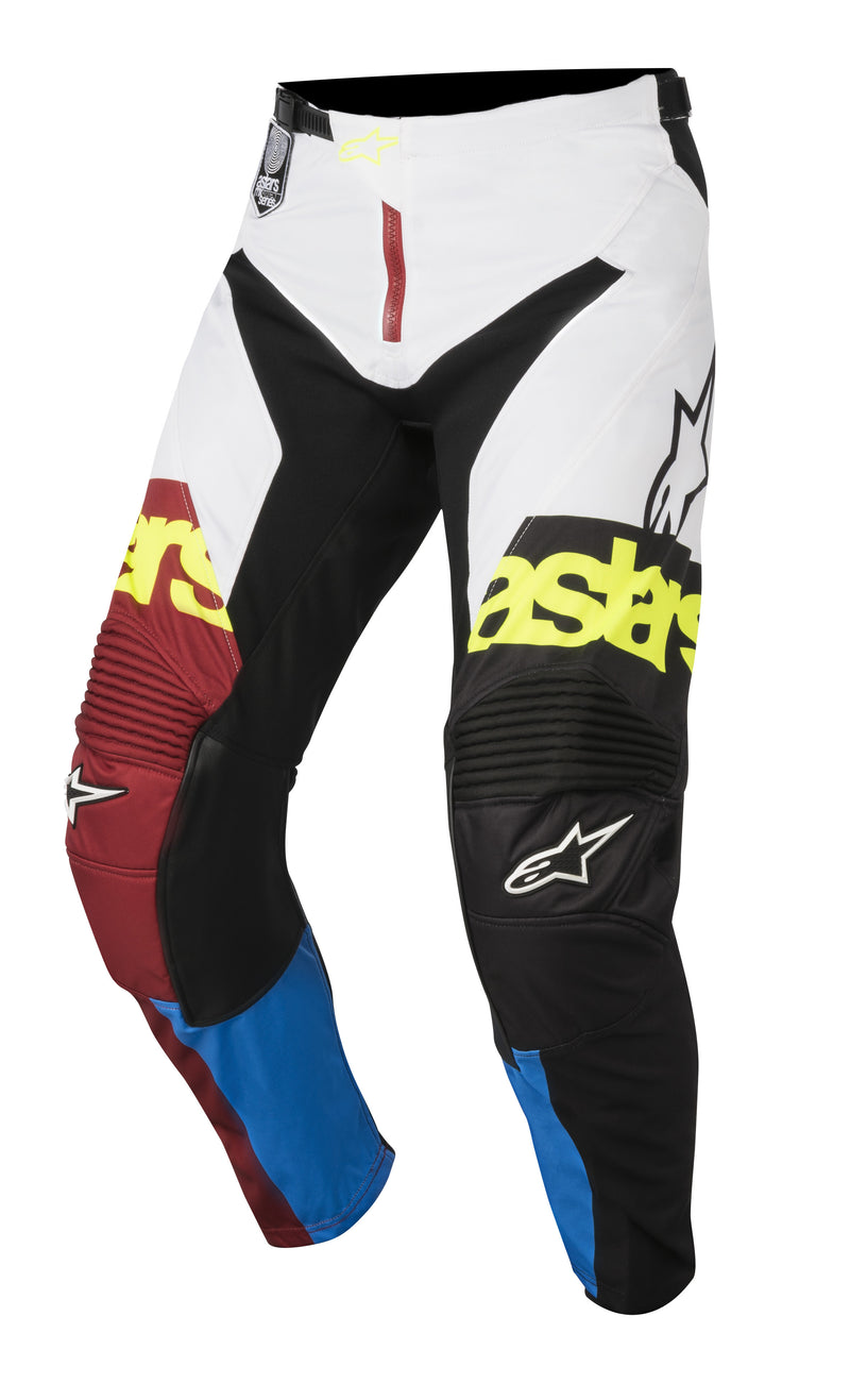 2018 Alpinestars Racer Flagship Pants Red Aqua White OCT17