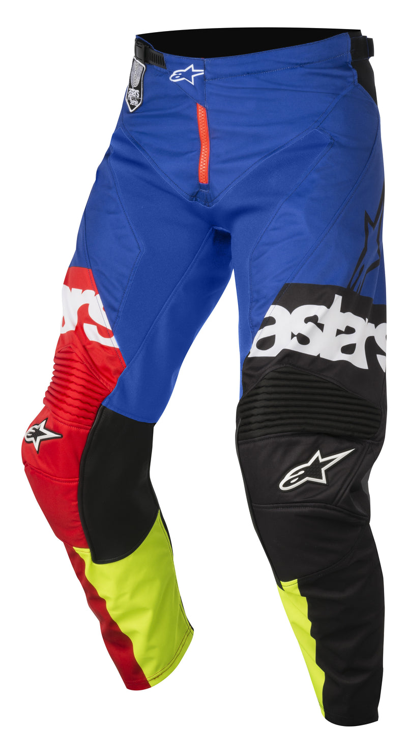 2018 Alpinestars Racer Flagship Pants Red Flo Blue OCT17