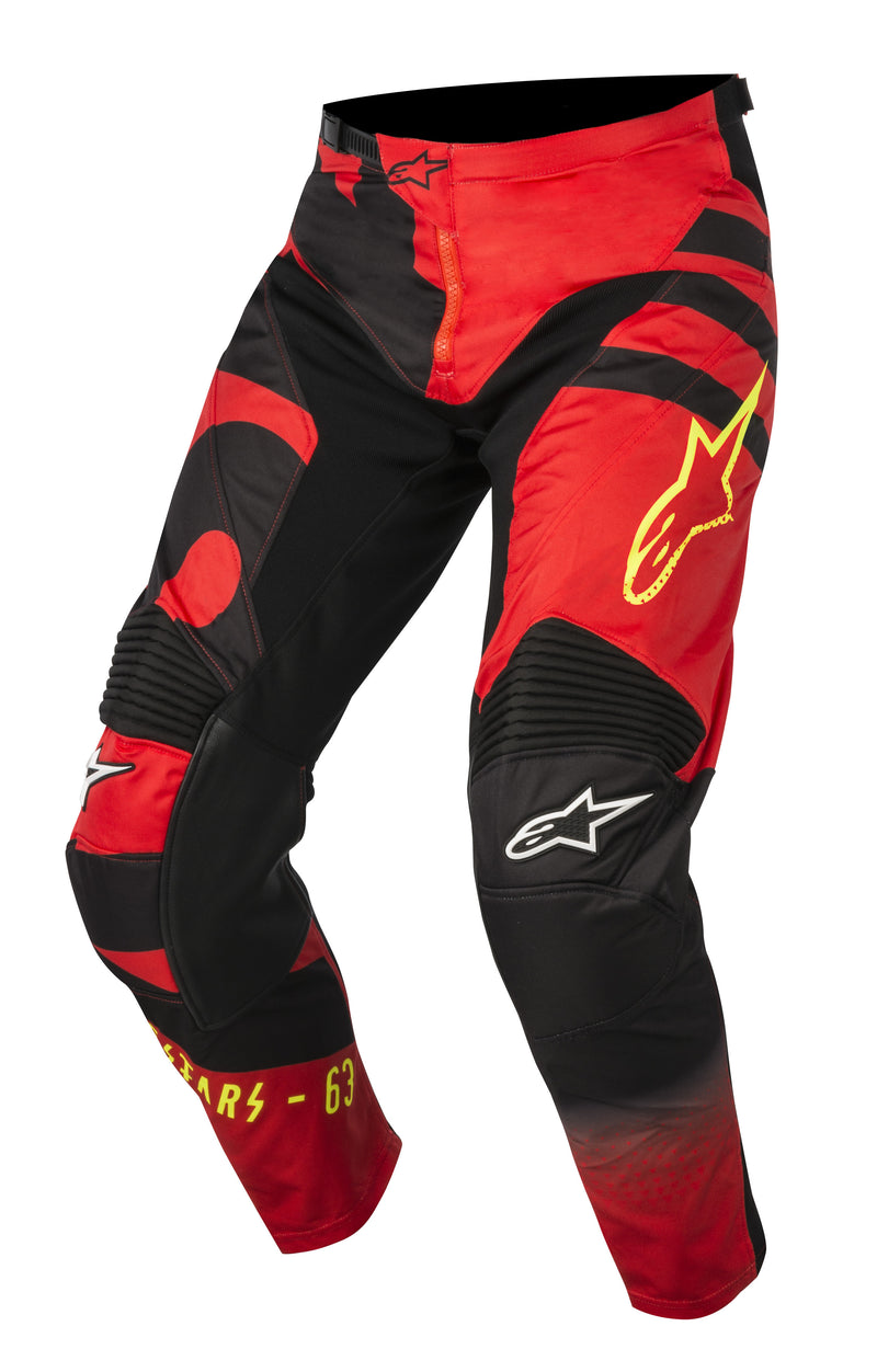 2018 Alpinestars Racer Braap Pants Red Black Flo