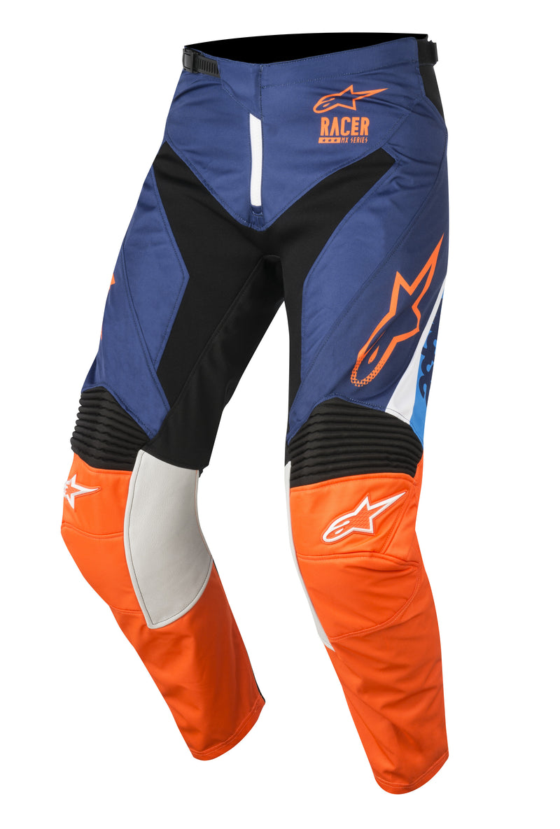 2018 Alpinestars Racer Supermatic Pants Blue Orange Aqua