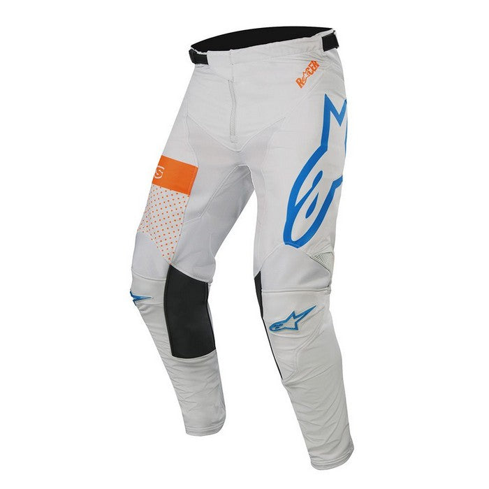Kit Pants Alpinestars Racer Tech Atomic - 2019- Cool Grey Mid Blue Orange Fluo 40in