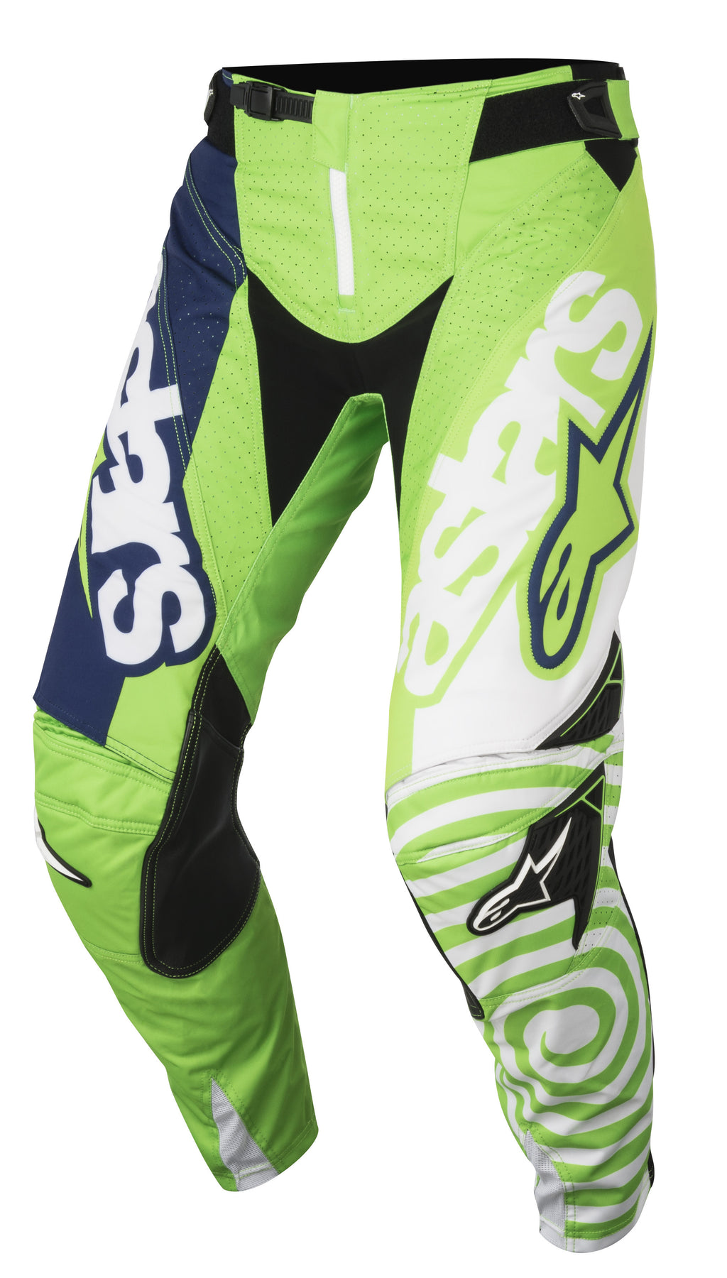 2018 Youth Alpinestars Racer Pants Flo Green Blue