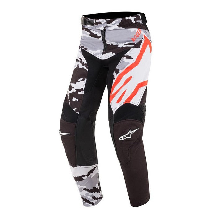 Kit Pants Alpinestars Racer Teactical Youth- 2019- Black Grey Camo Red Fluo 28 in