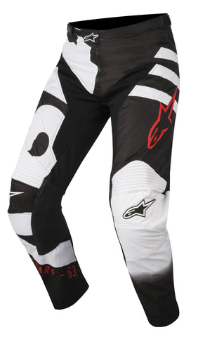 2018 Youth Alpinestars Racer Braap Pants Black White Red