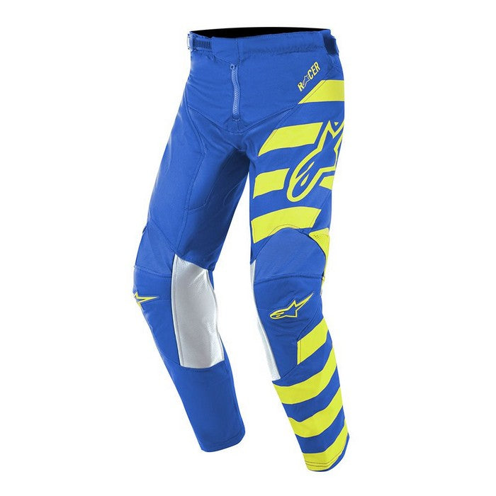 Kit Pants Alpinestars Racer Braap Youth- 2019- Blue Yellow Fluo 28 in