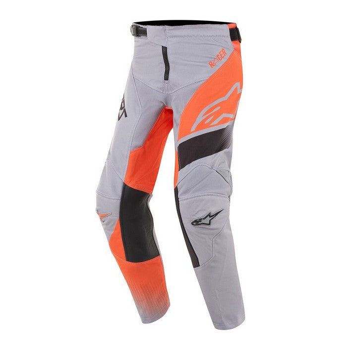 Kit Pants Alpinestars Supermatic Youth- 2019- Light Grey Orange Fluo Black 28 in