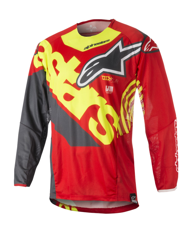 Kit Combo Alpinestars Techstar Venom - 2018- Red Yellow Anthracite 28in S-Small