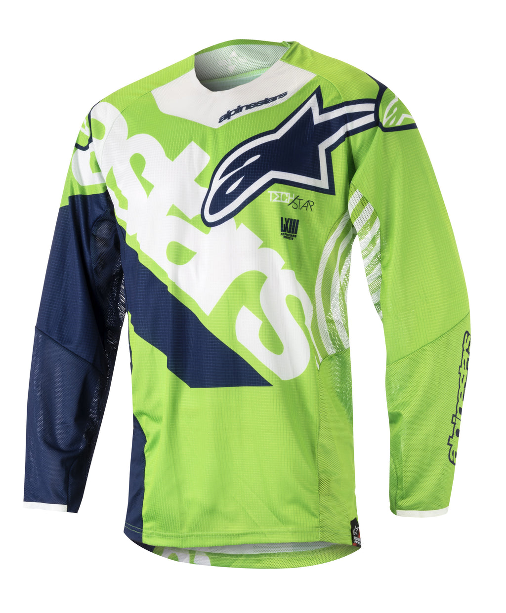 Kit Jersey Alpinestars Techstar Venom - 2018- Green White Blue S - Small