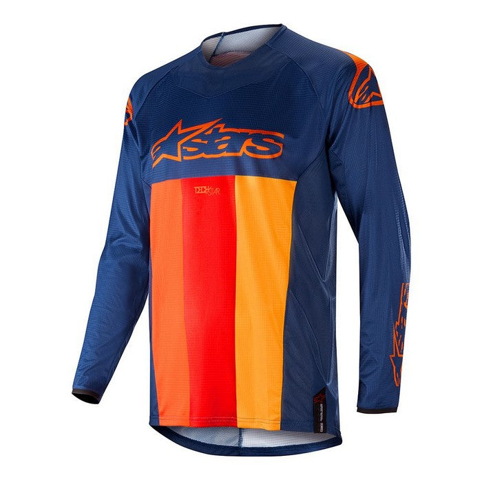 Kit Jersey Alpinestars Techstar Venom - 2019- Dark Blue Red Tangerine XXL - Extra Large