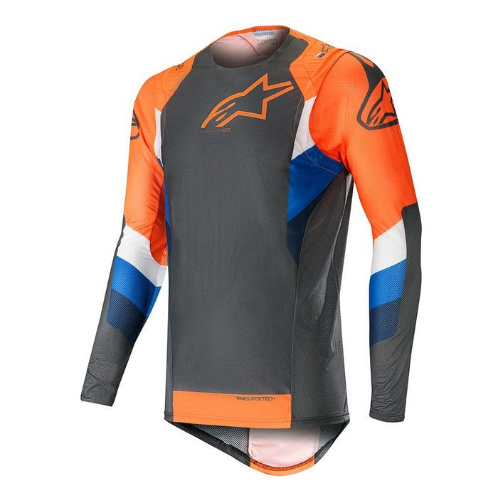 Kit Jersey Alpinestars Supertech - 2019- Anthracite Orange Fluo XL - Extra Large
