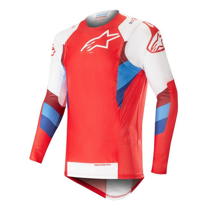 Kit Jersey Alpinestars Supertech - 2019- Red White XXL - Extra Large