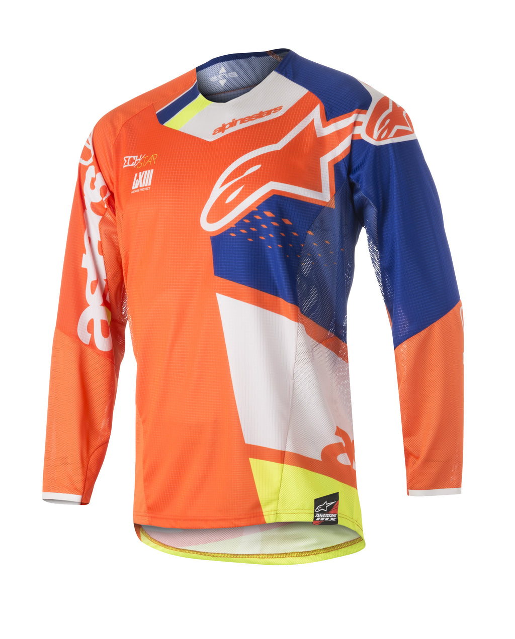 Kit Jersey Alpinestars Techstar Factory - 2018- Orange Blue White S - Small