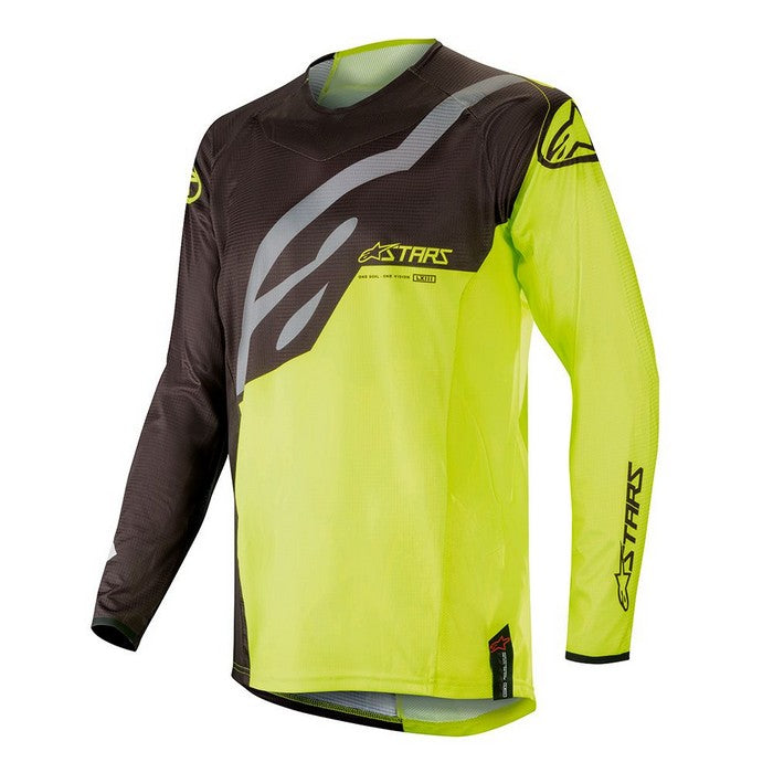 Kit Jersey Alpinestars Techstar Factory - 2019- Black Yellow Fluo XXL - Extra Large